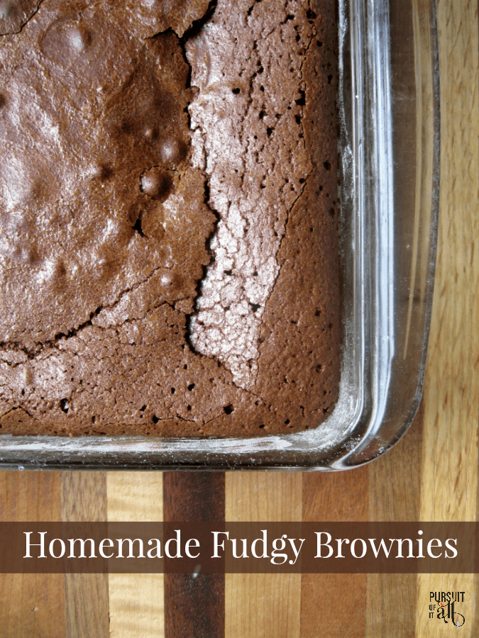 Homemade Fudgy Brownies - made with ingredients you probably have in your fridge and pantry RIGHT NOW!! YUM!!