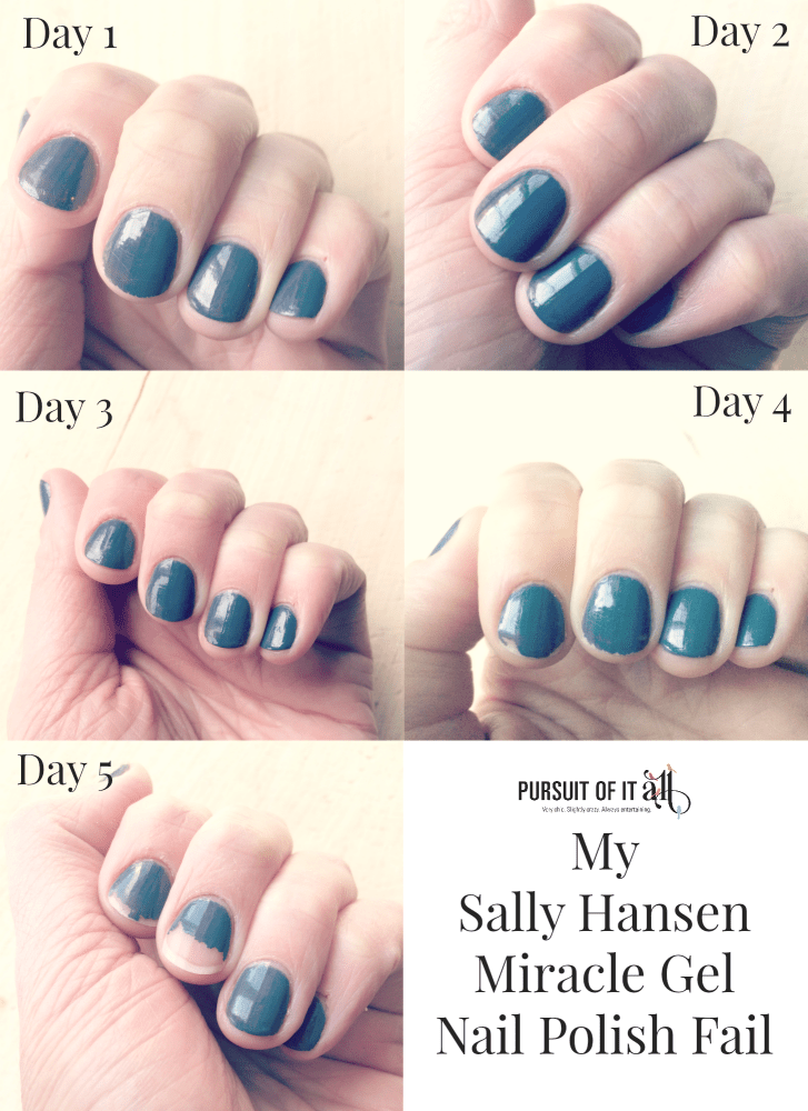 My Sally Hansen Miracle Gel polish fail!