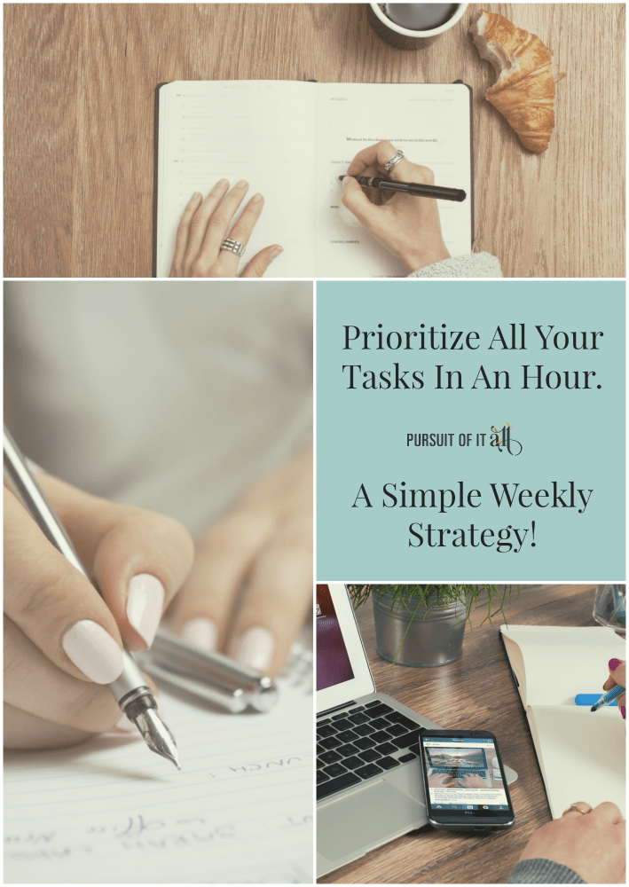 Prioritize All Your Tasks In An Hour With This Simple Weekly Strategy!