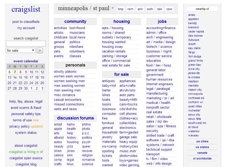 Craigslist sf tools