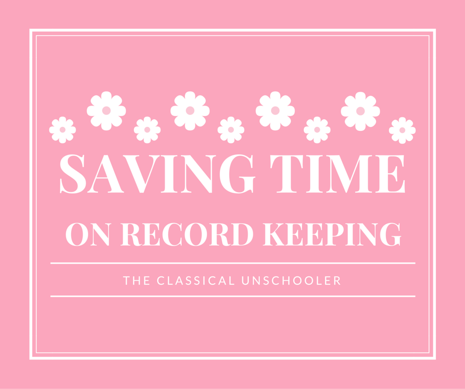 Saving Time on Record Keeping