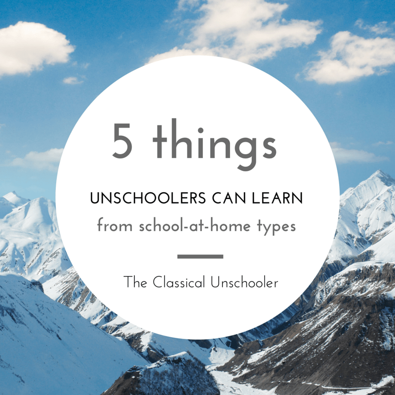 What Unschoolers Can Learn From the School-At-Home People
