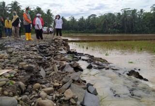 Desa Cilapar dan Penolih di Kecamatan Kaligondang kembali terendam banjir usai diguyur hujan deras pada Selasa (12/1/2021). Banjir di dua desa tersebut disebabkan luapan Sungai Ranu