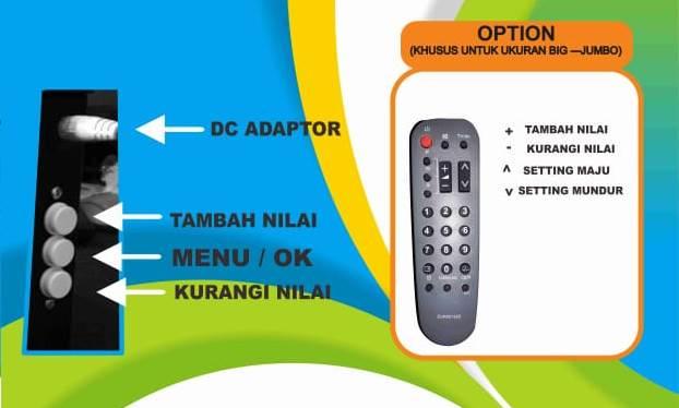 Cara Setting Dengan Remote