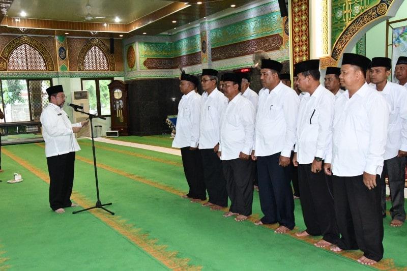 Contoh Pelantikan Pengurus Masjid Organisasi DKM Masjid