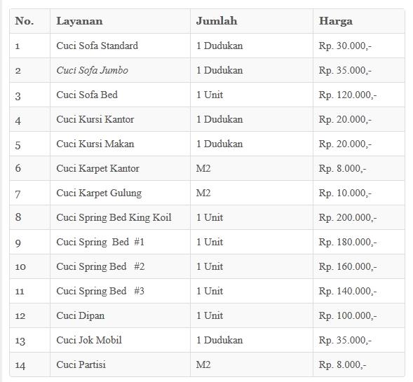 contoh harga jasa cuci sofa
