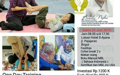 Pelatihan MBL (Movement Based Learning) Angkatan ke 12, 22 Juni 2019