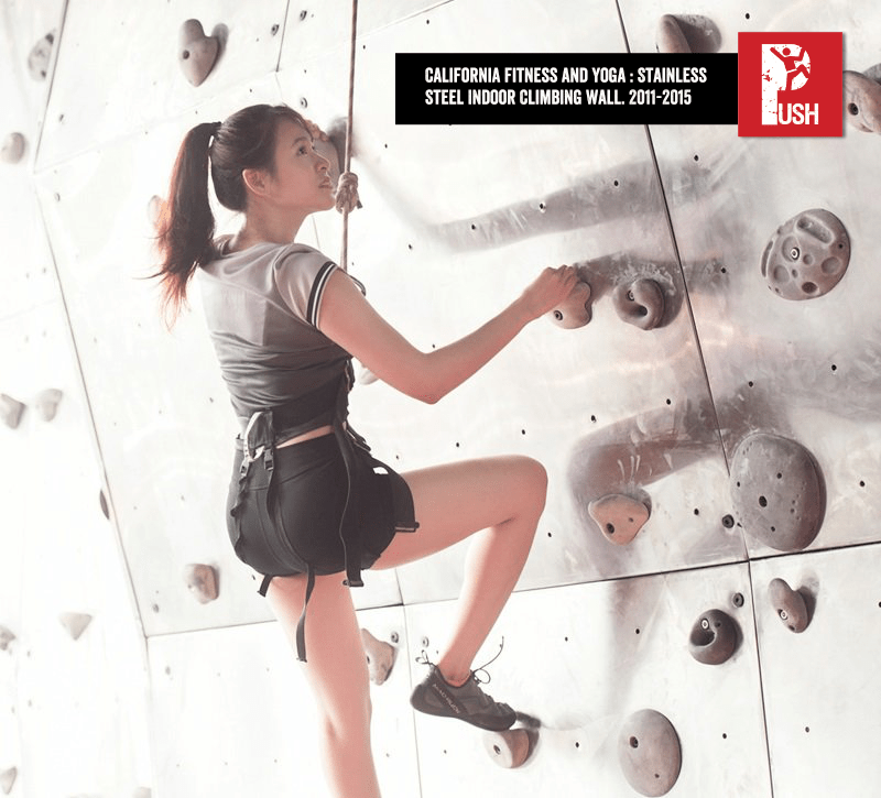 California Fitness and Yoga Stainless Steel Climbing Wall