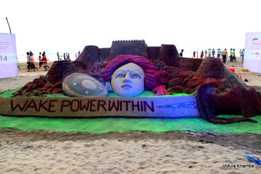 Sand art @ Ganpatipule
