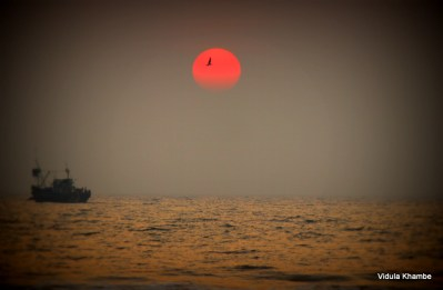 Sunset on the Ganpatipule beach