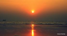 sunset on Velneshwar beach