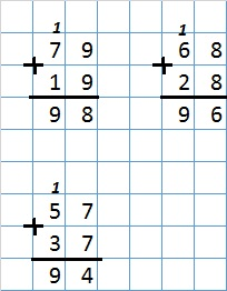 Урок 11 Сложение двузначных чисел 5б