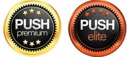 PUSH Models Premium and Elite Badges