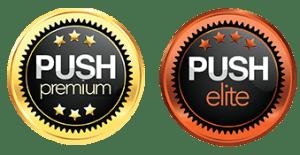 PUSH Models Premium and Elite Badges