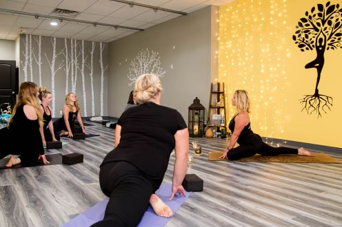 Various yoga classes and special events.
