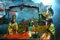 Depicting scenes from various mythologies - inside India Temple