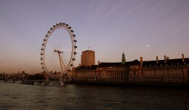 The London Eye with Tames in foreground
