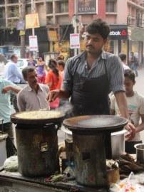 Chilla being prepared in front of Vardaan Market