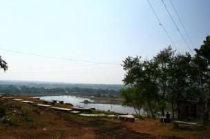 Water reservoir at the base of Nandan Pahar
