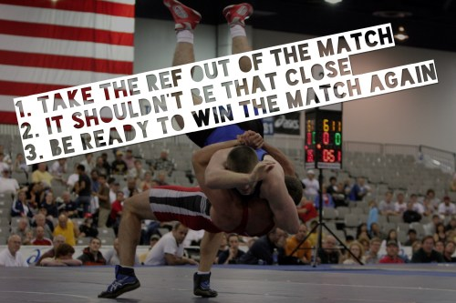 take the ref out of the match