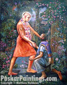 Lord Chaitanya and Sanatan light
