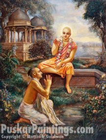 Lord Chaitanya with Rupa Goswami