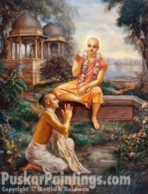 Lord Chaitanya with Rupa Goswami