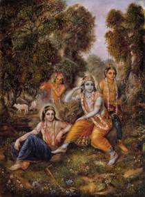 [K34] Krishna and cowherd boys