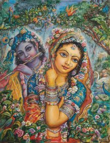 [K66] Radha Krsna - Radharani and forest creatures are attracted by Krishna's Flute