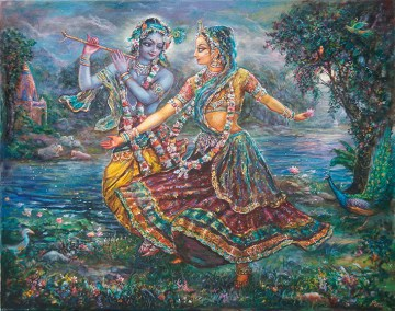 [K41] Radharani dances to the sound of Krishna's flute
