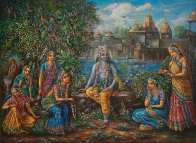 Krsna by Temple