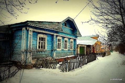 Ahşep evler Rusyanın kırsalının klaisğidir.
