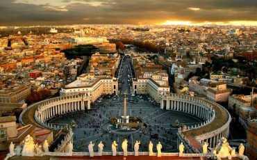 Vatikan kulesinden bakış