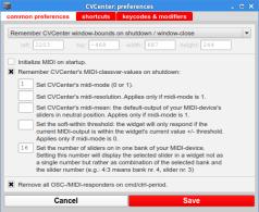 CVCenterPreferences: common settings