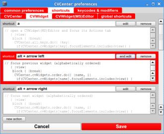 KeyDownActionsEditor (CVCenterPreferences)