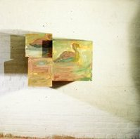 """""""Augen"""": rechtes Auge (""""eyes"""": right eye), oil on plywood-boxes, 65 x 85 x 60 cm, 1995"""