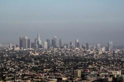 Los Angeles Downtown à travers le smog
