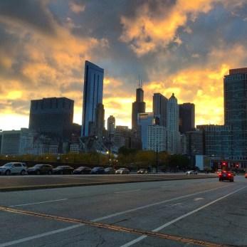 Sunset au nord du Millenium Park