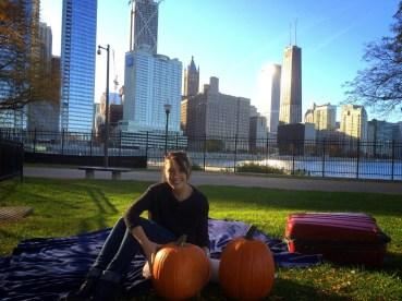 Nous avons finalement terminé cette séance de Pumpkin Carving à l'appart