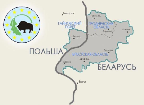 Заповедник Беловежская пуща на карте Белоруссии фото
