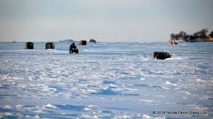 ice fishing Lake Erie