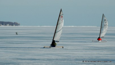 Put in Bay Ice Sailing