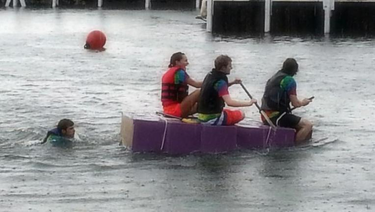 Put in Bay cardboard boats