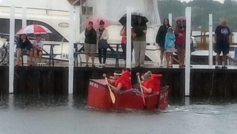 Put in Bay cardboard boats