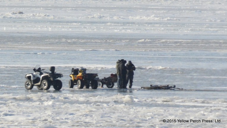 Lake Erie ice fishers