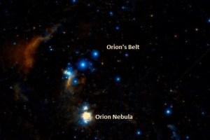 Orion Nebula location. Image: Wikisky