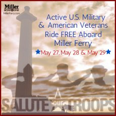 Active Military Discount Put in Bay