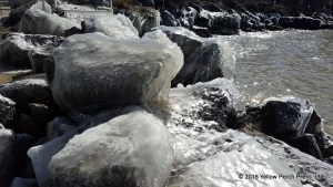 Lake Erie shore ice
