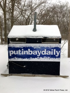 snow at Put in Bay