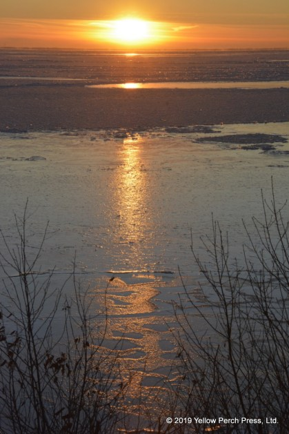 winter sunset Put in Bay